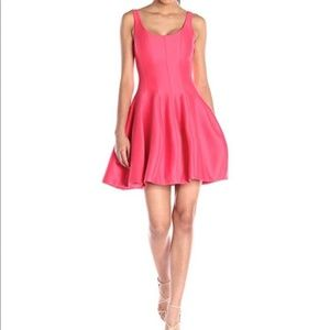Halston Heritage Faille Silk Tulip Coral Dress NWT